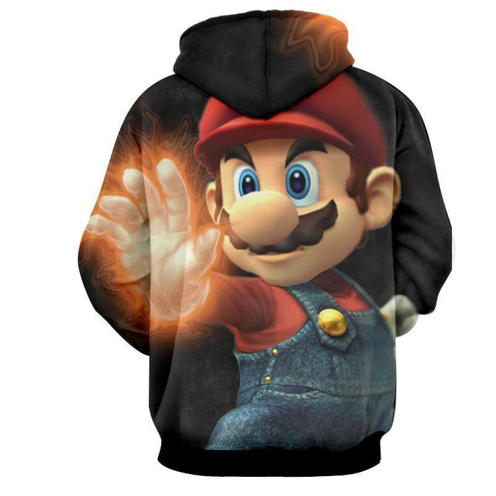 Super Mario Fire Gloves Iconic Posture Cool Design Hoodie