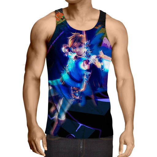 The Legend Of Zelda Link Archer Shooting Vibrant Tank Top