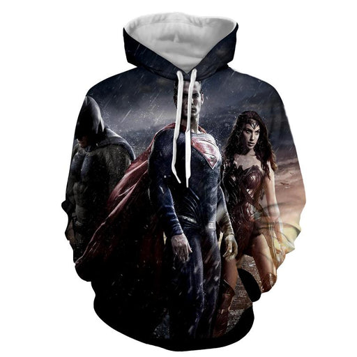 Batman VS Superman Dawn Of Justice Trinity 3D Print Hoodie - Superheroes Gears