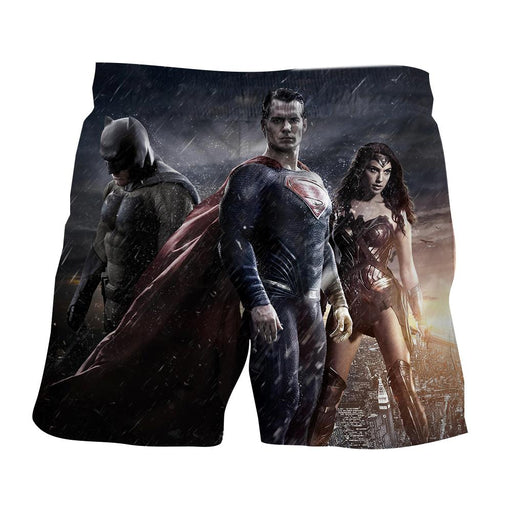 Batman VS Superman Dawn Of Justice Trinity 3D Print Shorts - Superheroes Gears