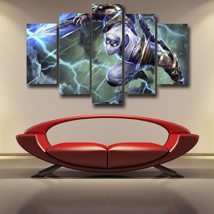 League of Legends Shockblade Zed Lightning Strike Cool 5pc Wall Art