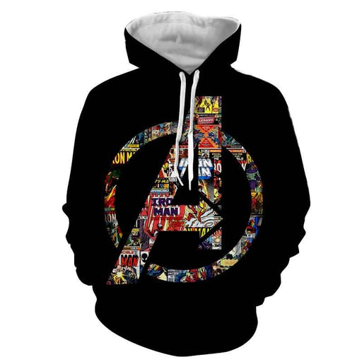 Marvel The Avengers Symbol Iron Man Unique Style 3D Hoodie
