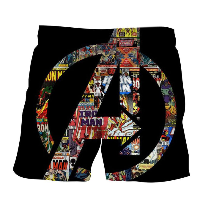 Marvel The Avengers Symbol Iron Man Unique Style Shorts - Superheroes Gears
