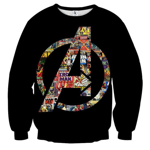 Marvel The Avengers Symbol Iron Man Unique Sweatshirt - Superheroes Gears
