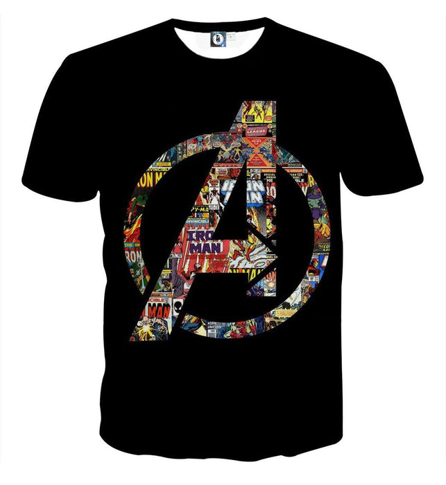 Marvel The Avengers Symbol Iron Man Unique Style T-shirt - Superheroes Gears
