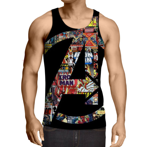 Marvel The Avengers Symbol Iron Man Unique Style Tank Top - Superheroes Gears