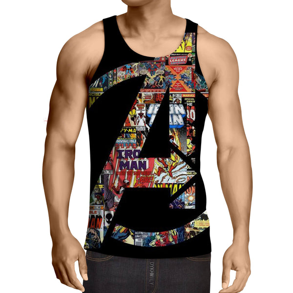 Marvel The Avengers Symbol Iron Man Unique Style Tank Top