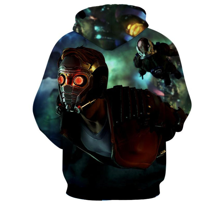 Guardians of the Galaxy Star-Lord Gear Up Awesome Design Hoodie - Superheroes Gears