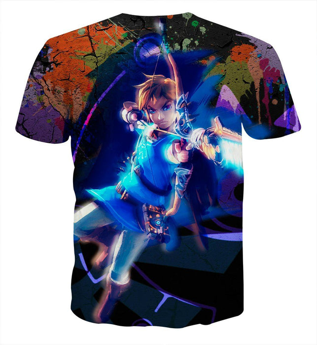 The Legend Of Zelda Link Archer Shooting Vibrant T-Shirt