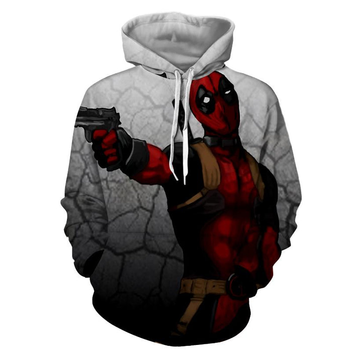 Deadly Deadpool Shooting Scene Dope Style Full Print Hoodie