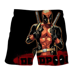 Deadpool Thumbs Up Style Black Background 3D Print Short