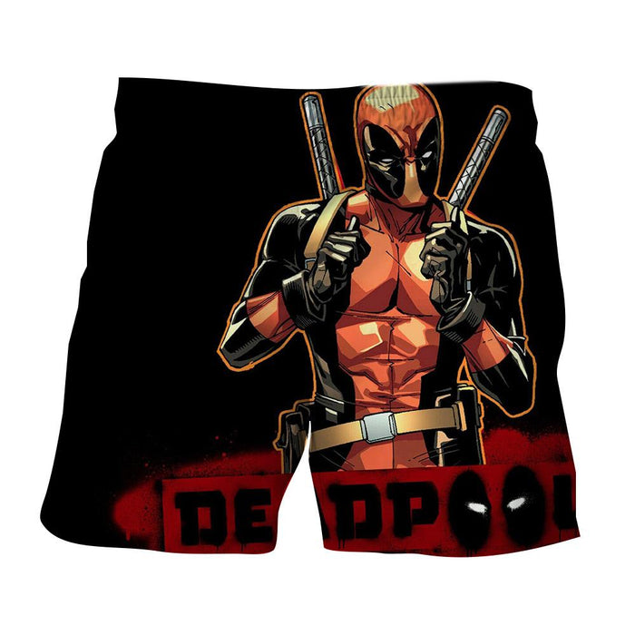 Deadpool Thumbs Up Style Black Background 3D Print Short - Superheroes Gears