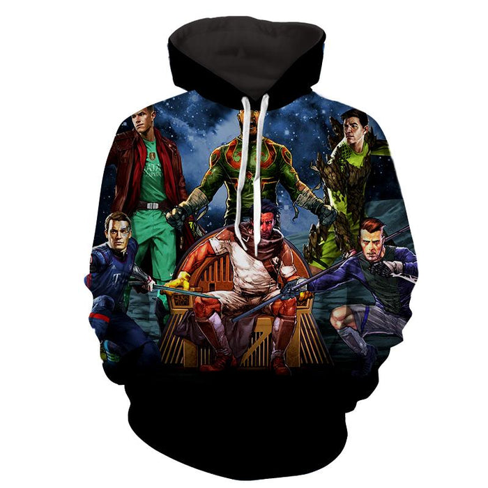 Guardians of the Galaxy Parody Football Stars Style Funny Hoodie - Superheroes Gears
