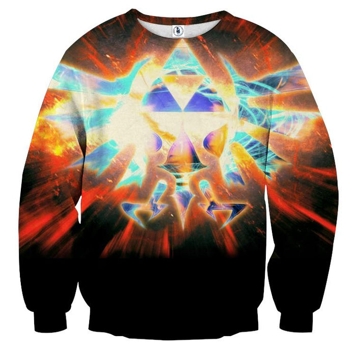 The Legend Of Zelda The Symbol With Lighting Thunder Sweater
