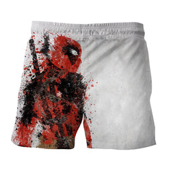 Deadpool Impressive Abstract Painting Design 3D Print Short
