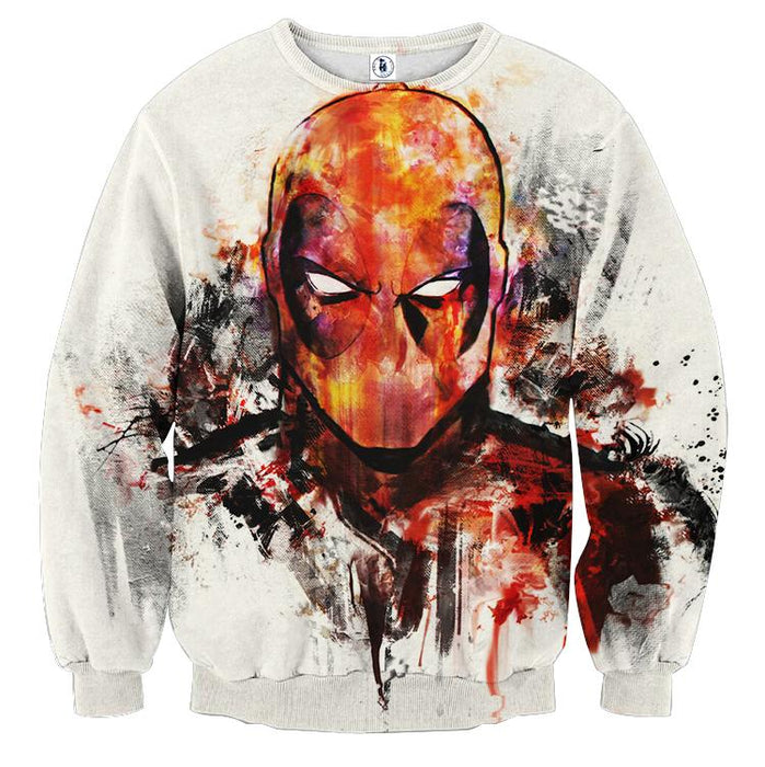 Deadpool Marvel Unique Style Fan Art Portrait Awesome Sweatshirt - Superheroes Gears