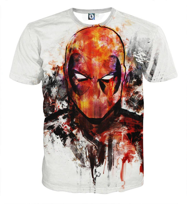 Deadpool Marvel Unique Style Fan Art Portrait Awesome T-shirt - Superheroes Gears