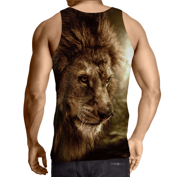 Lion Wild Animal Hunter Portrait Winter Tank Top
