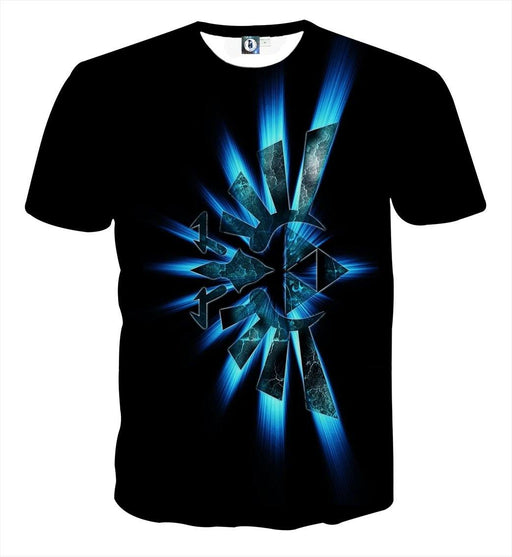 The Legend Of Zelda Shinning Sparkle Symbol Black T-shirt