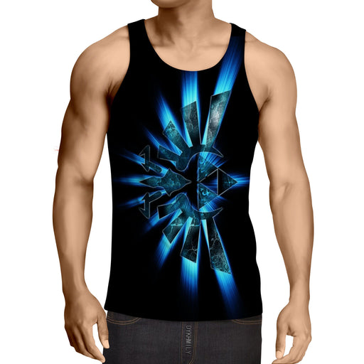 The Legend Of Zelda Shinning Sparkle Symbol Black Tank Top