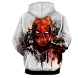 Deadpool Marvel Unique Style Fan Art Portrait Awesome Hoodie
