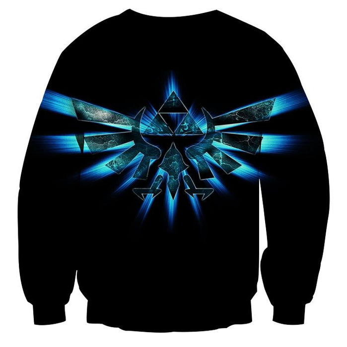 The Legend Of Zelda Shinning Sparkle Symbol Black Sweater