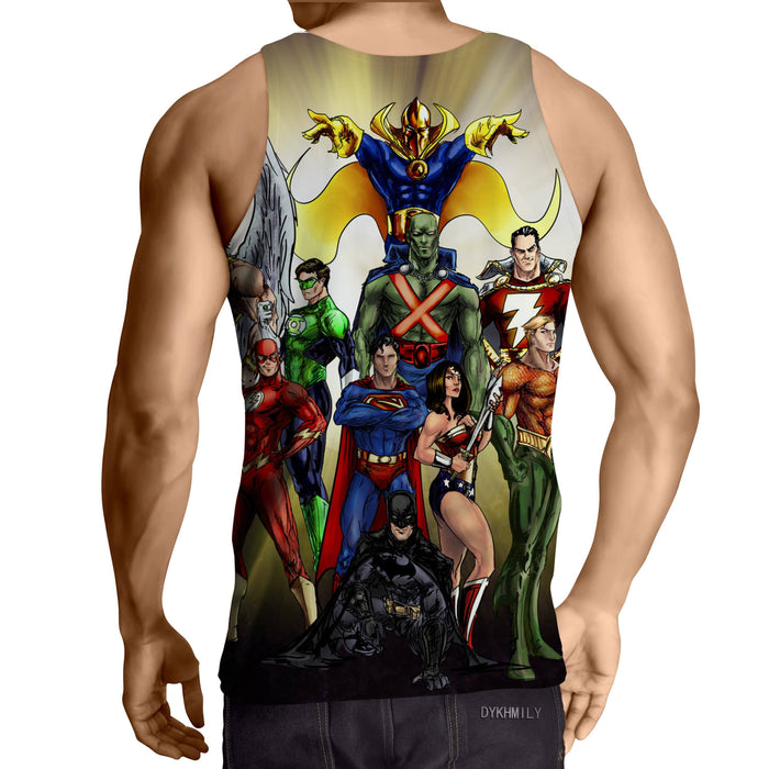 Justice League DC Superheroes All Characters Cool Tank Top