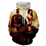 Justice League Perfect Trinity Dope Design Full Print Hoodie