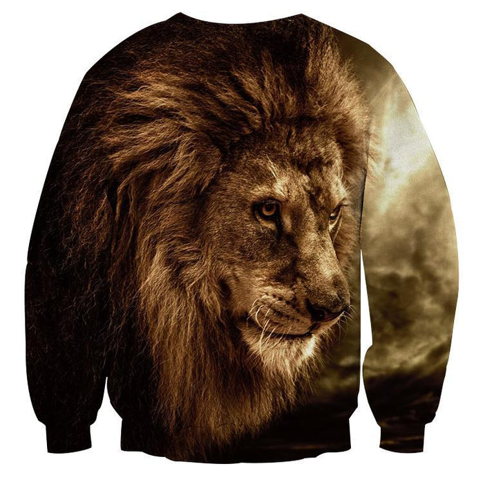 Lion Wild Animal Hunter Portrait Full Print Winter Sweatshirt
