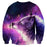 Lonely Wolf Dreamy Look Aesthetic Galaxy Purple Sweatshirt