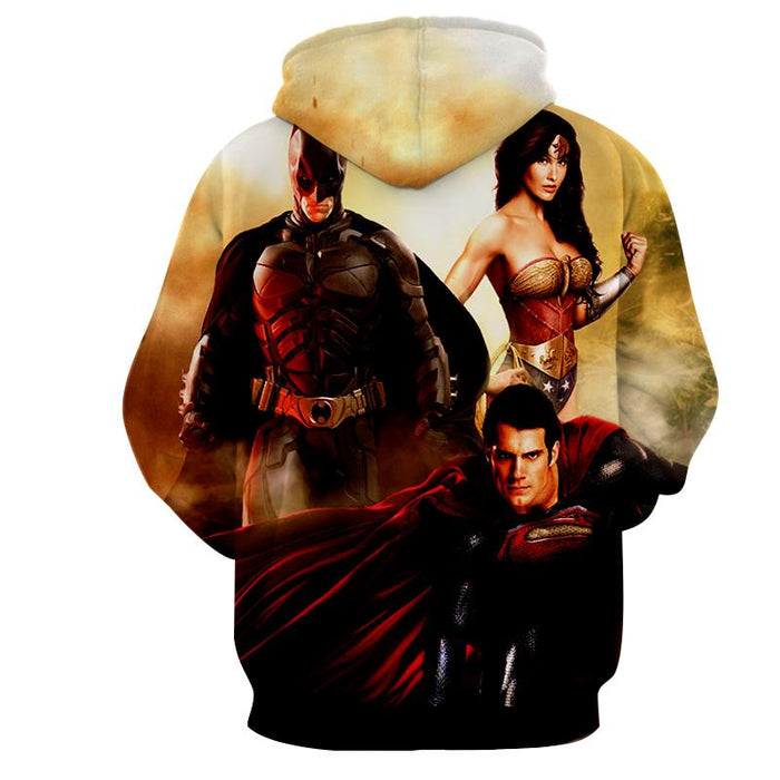 Justice League Perfect Trinity Dope Design Full Print Hoodie - Superheroes Gears