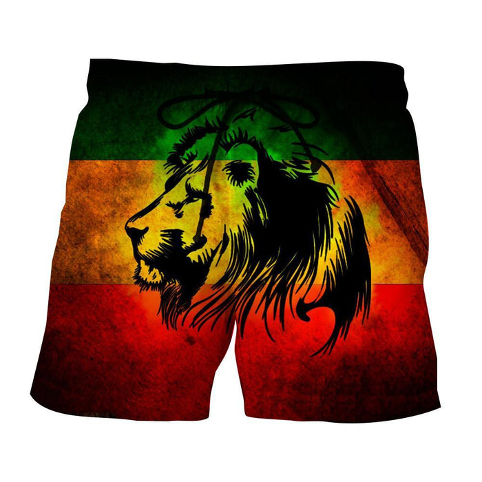 Rastafari Lion Weed Reggae Symbol Pride Cool Design Shorts