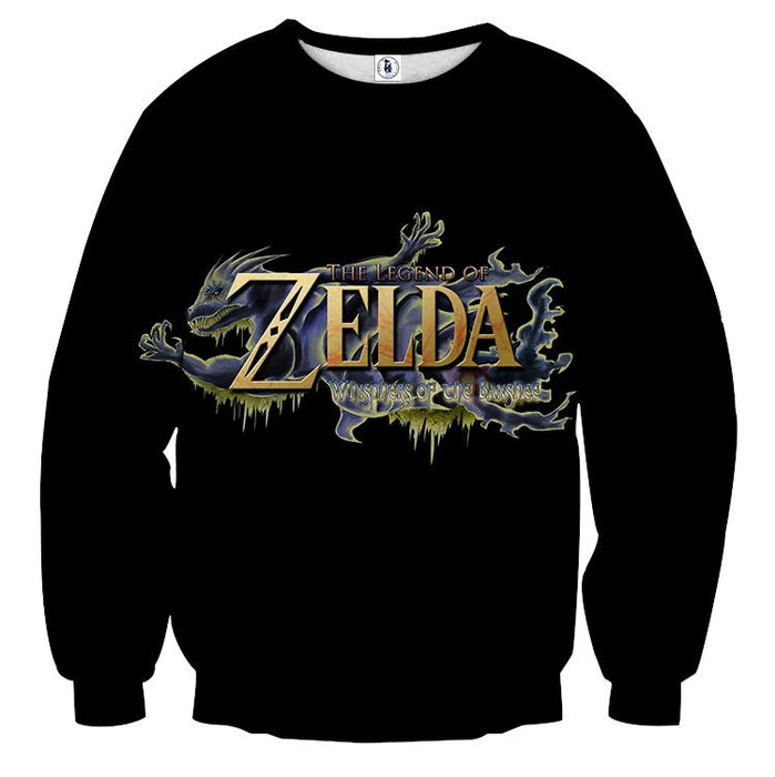 The Legend Of Zelda Stunning Mythtic Symbol Black Sweater