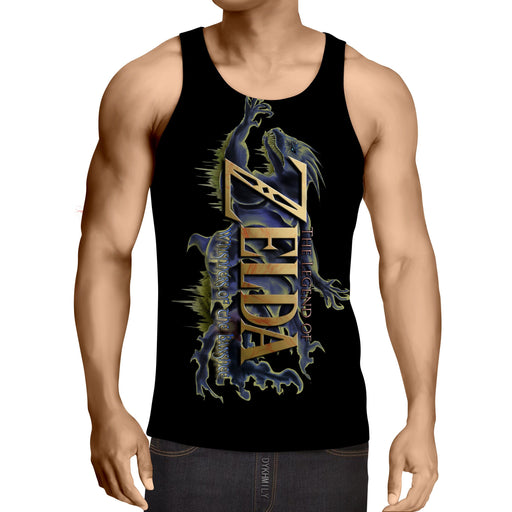 The Legend Of Zelda Stunning Mythtic Symbol Black Tank Top