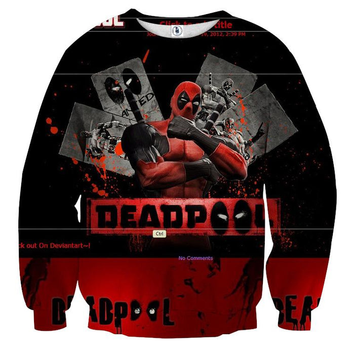 Deadpool The Winner Style Funny Design Full Print Sweatshirt - Superheroes Gears