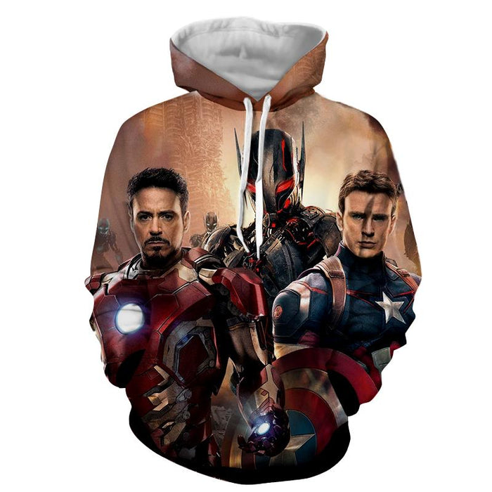 The Avengers Captain America Iron Man Ultron Dope 3D Hoodie