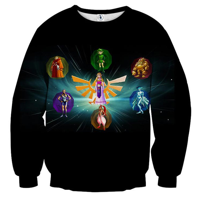 The Legend Of Zelda Perfect Colourful The Characters Sweater