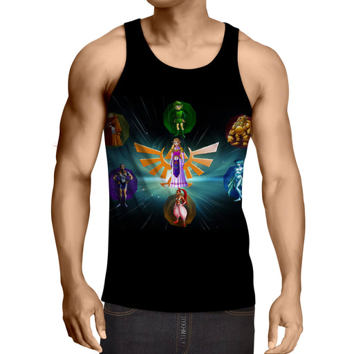 The Legend Of Zelda Perfect Colourful The Characters Tank Top