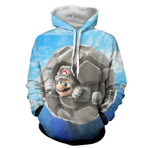 Super Mario Rock Mushroom Upgrade Cool Gaming Vintage Hoodies