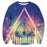 Cold Wolf Triangle Lighten Galaxy Graphic Design Sweatshirt - Superheroes Gears