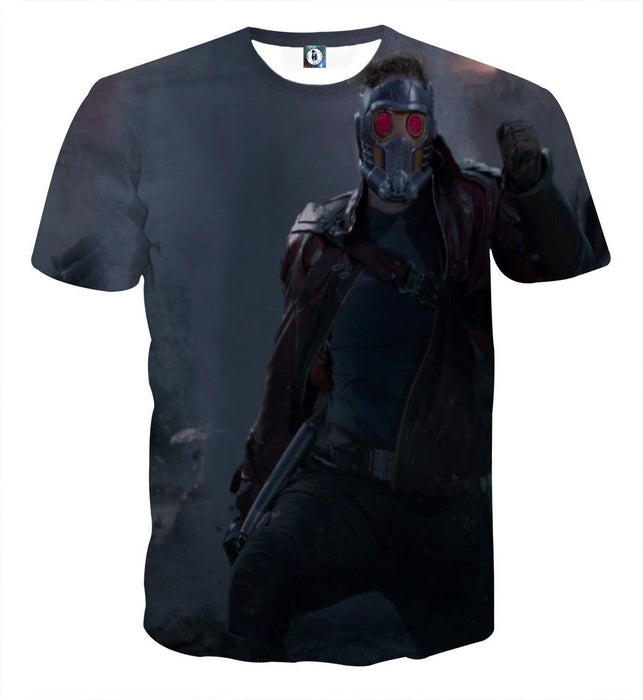 Guardians of the Galaxy Star-Lord Cool Posture Print T-shirt - Superheroes Gears