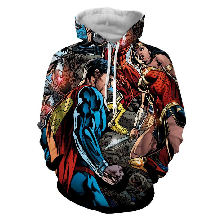 Justice League Comic Superman Dope Stand 3D Printed Hoodie - Superheroes Gears