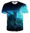 Amazing Wolf Back View Design Vibrant Blue Fashion T-Shirt