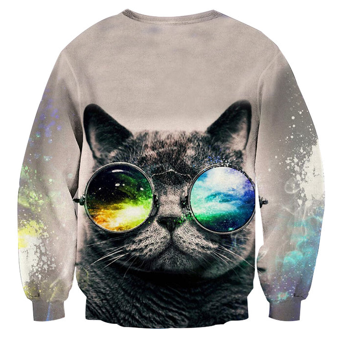 Cat Eye Sunglasses Abstract Style Streetwear Sweatshirt - Superheroes Gears