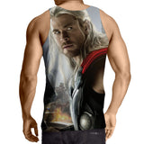 Marvel The Avengers Thor Portrait Unique 3D Print Tank Top