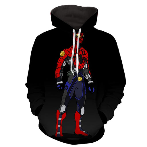 Spiderman Robot Comic Art 3D Print Hoodie