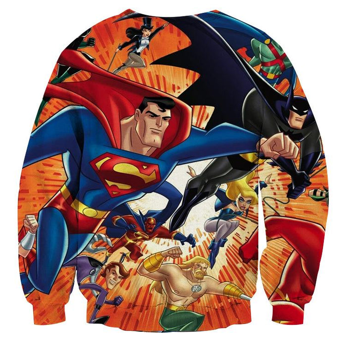Justice League DC Awesome Superheroes Team 3D Printed Sweatshirt - Superheroes Gears