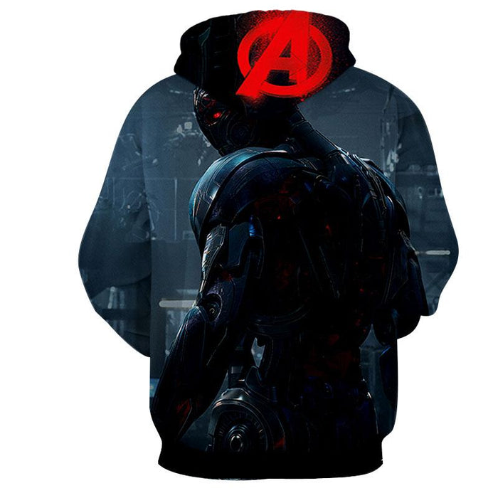 Marvel The Avengers Lonely Ultron Stylish Full Print Hoodie