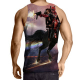 Deadpool And His Girlfriend Riding Horse Cool Style Tank Top