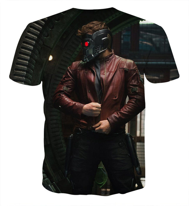 Guardians of the Galaxy Star-Lord Portrait Cool Printed T-shirt
